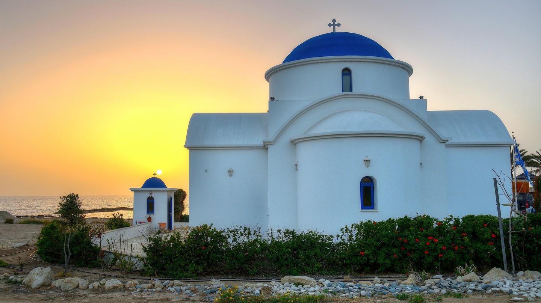 Striking sunset in Cyprus
