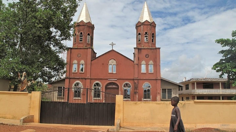 Heading to worship in Ghana