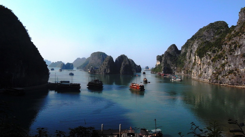 Tour boats in Ha Long Bay, Vietnam