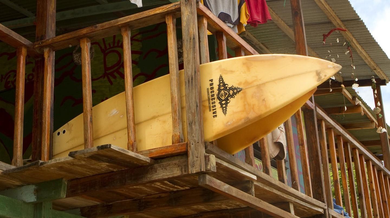 Surfboards near San Juan del Sur, Nicaragua