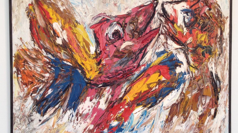 Karel Appel, Vechtende Vogels, 1954
