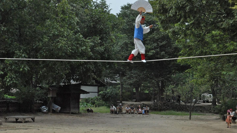 Traditional Korean tightrope