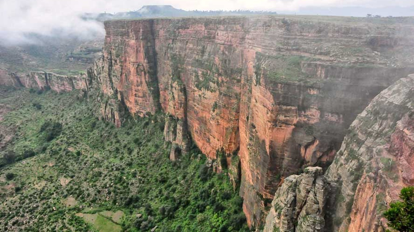 Escarpment in Tigray, the northern part of Ethiopia