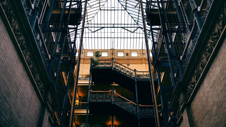 The Bradbury Building in Los Angeles.