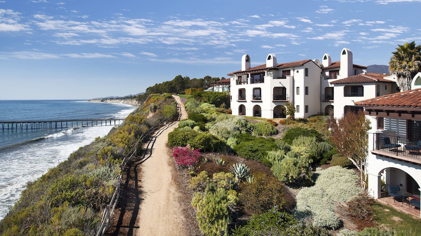 The Ritz-Carlton Bacara sits right on the bluff overlooking the ocean