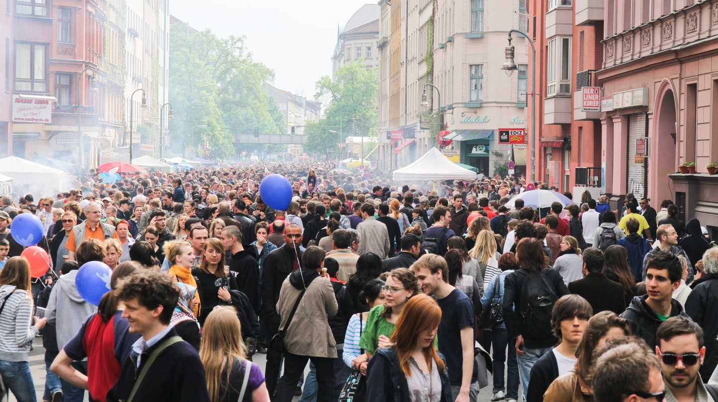 May Day street party, Berlin