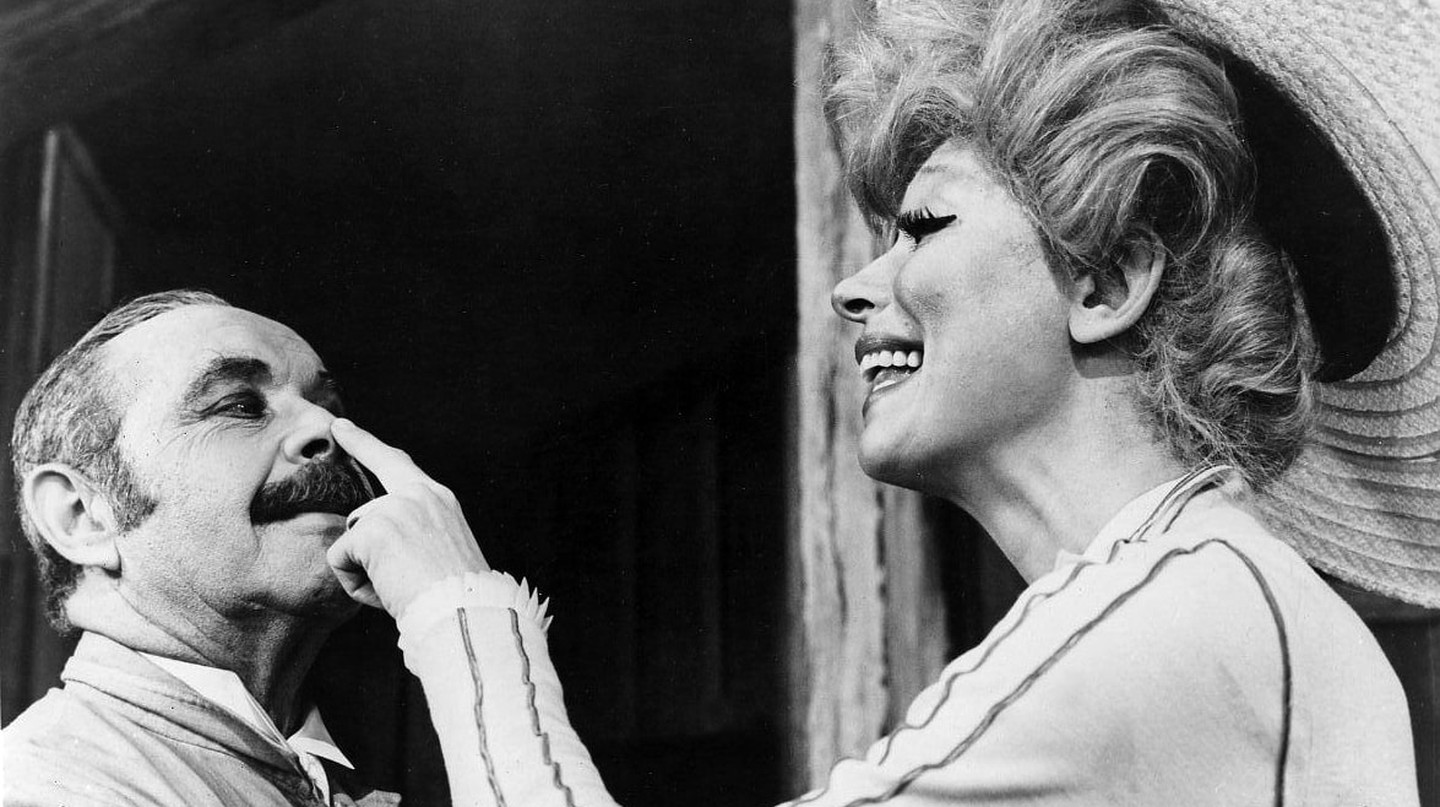 "Publicity photo of Carol Channing and David Burns in ""Hello Dolly"""