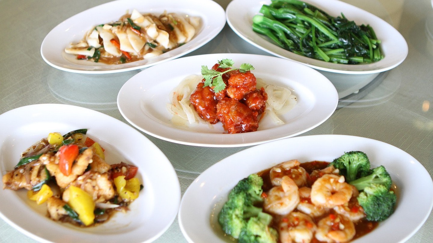 A spread of tasty Chinese dishes
