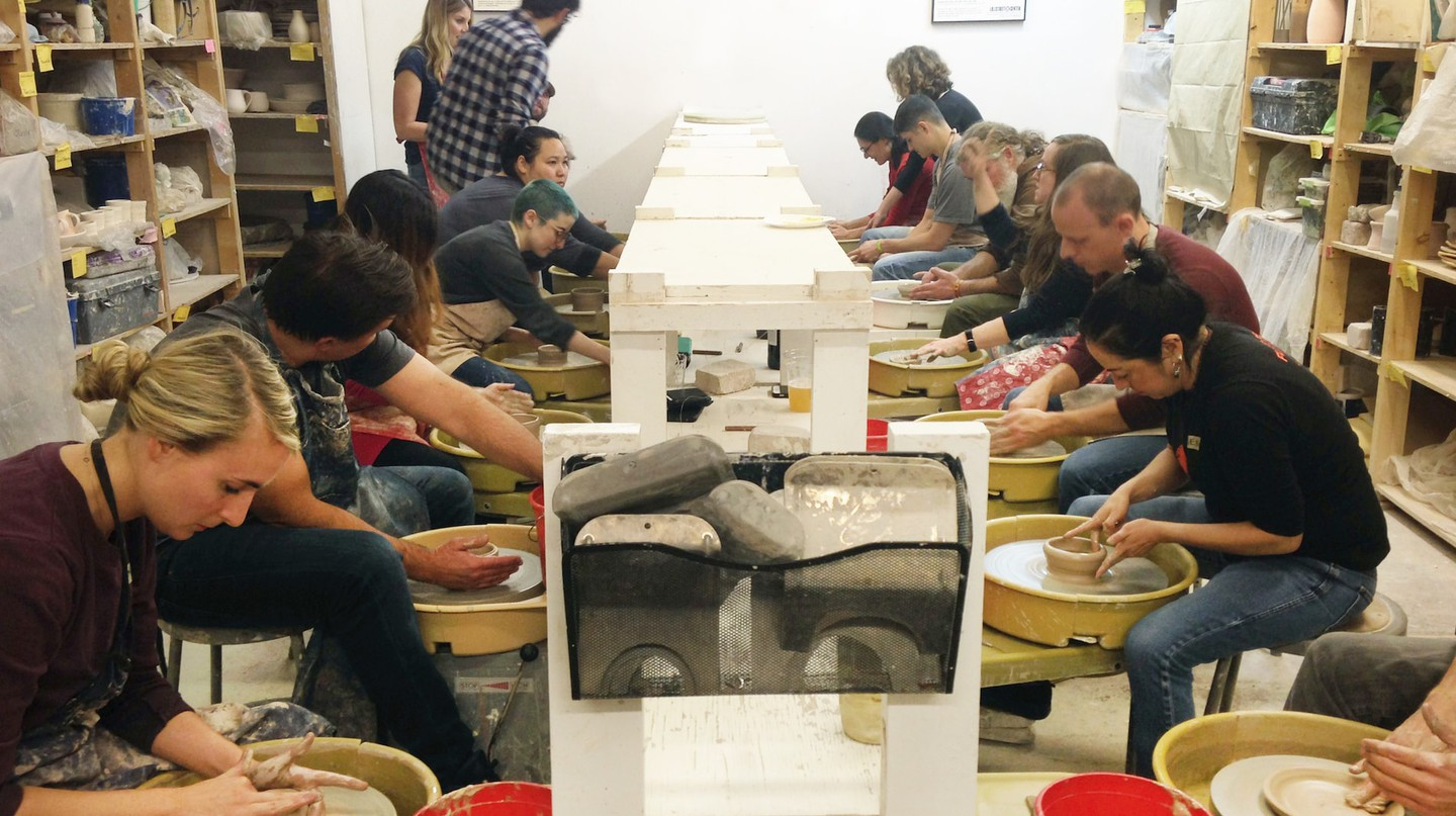 The Date Night Throw Down pottery workshop is a fun, unique date idea in Chicago.