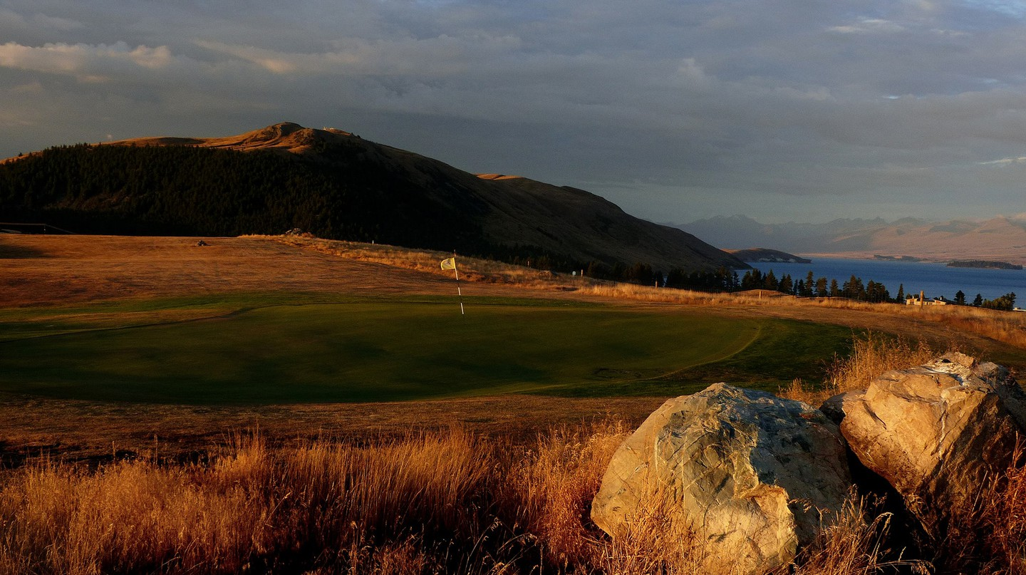 Views of the MacKenzie Basin as you play golf