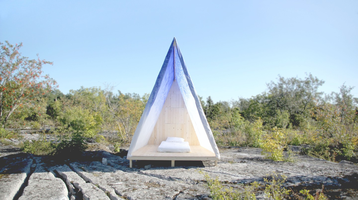 A-frame tent designed by DOH