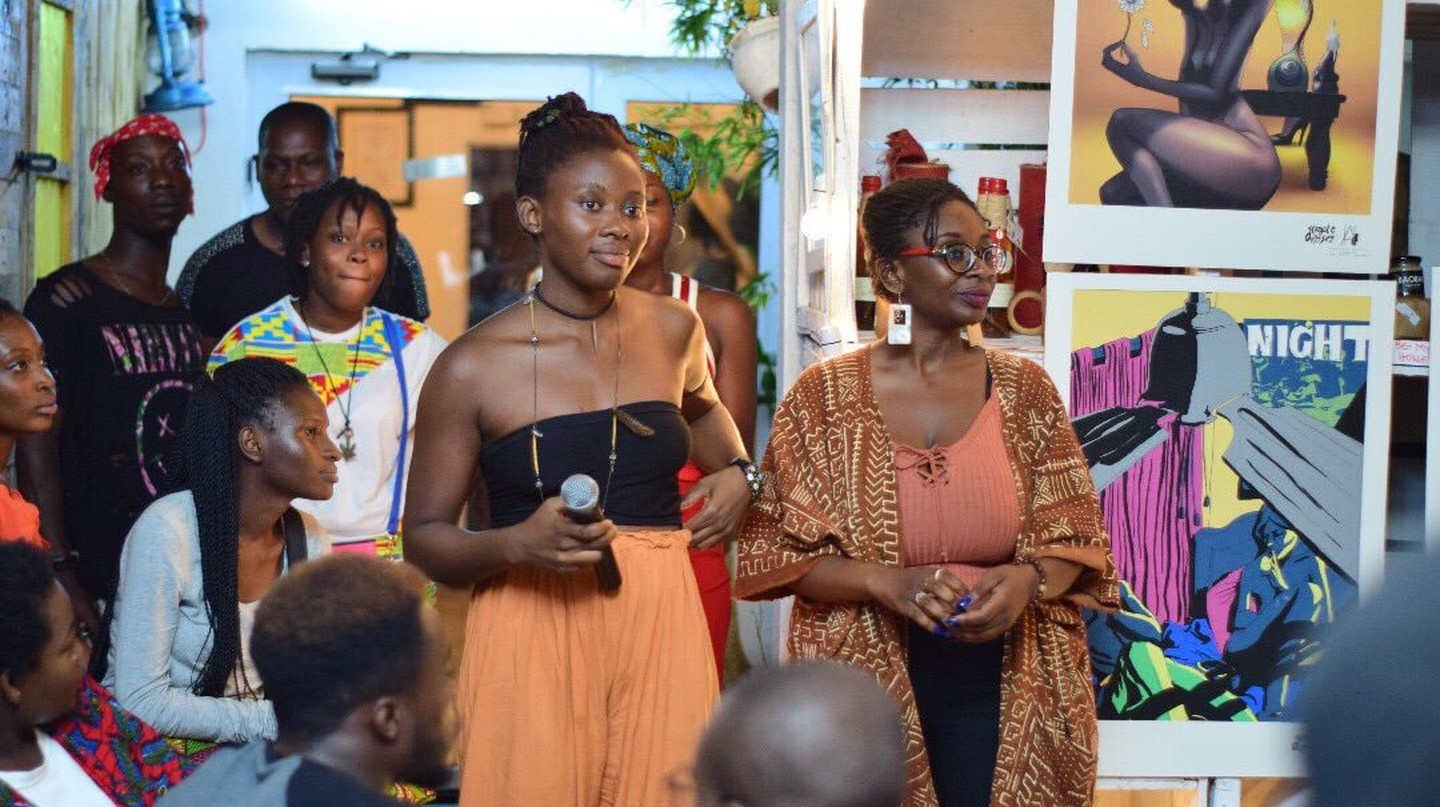 A Drama Queens open mic event in Accra