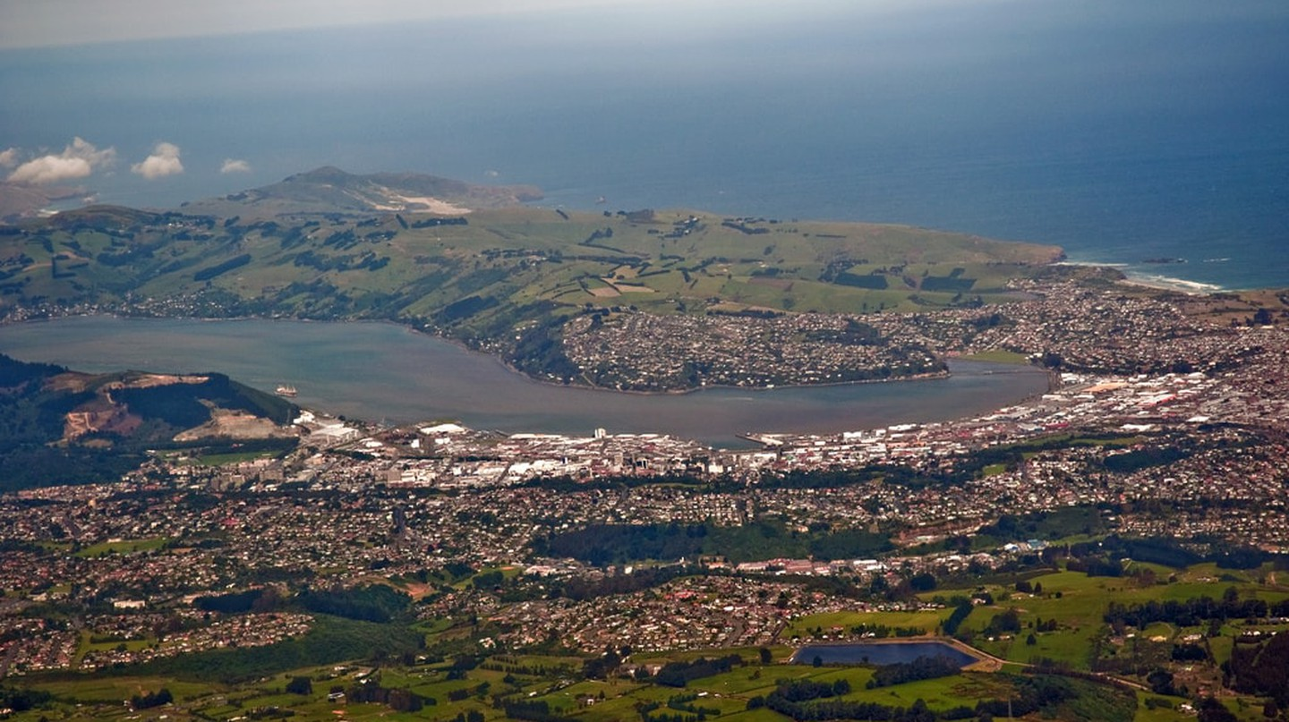 Dunedin from the air