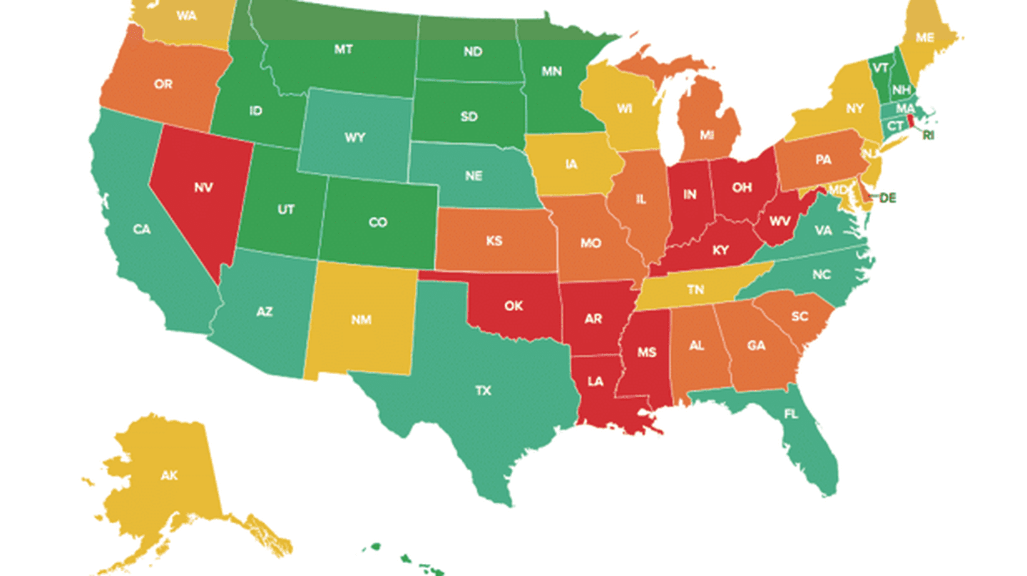 State well-being rankings for 2017