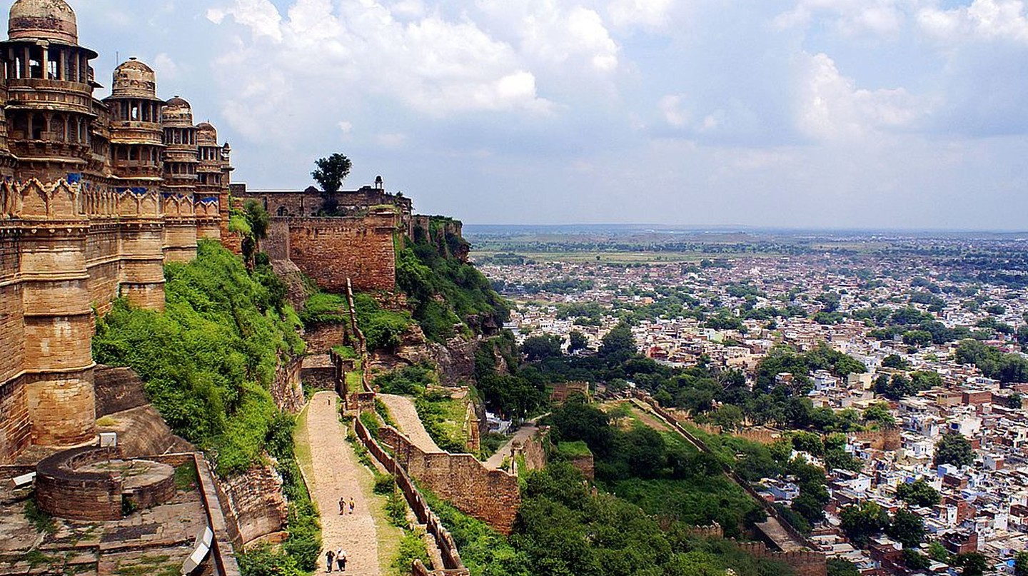 A view of the city from Gwalior Fort