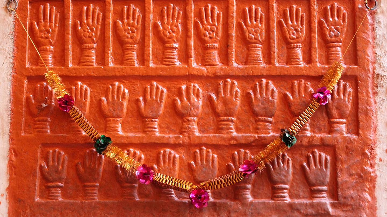 Sati handprints at Mehrangarh Fort, Jodhpur, Rajasthan