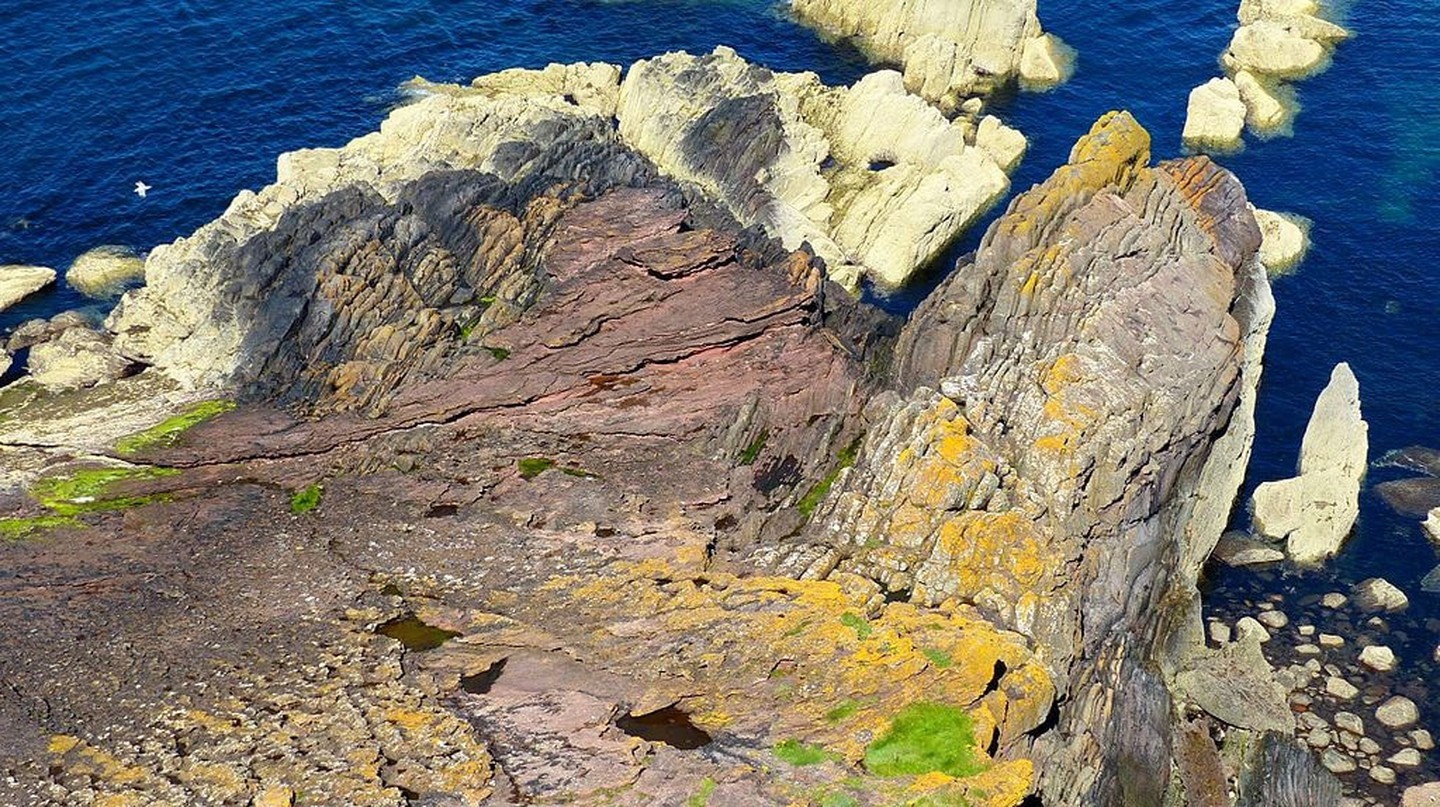 Hutton's Unconformity, Siccar Point, Scotland