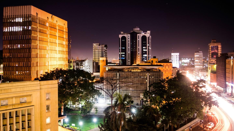 Kampala City's skyline