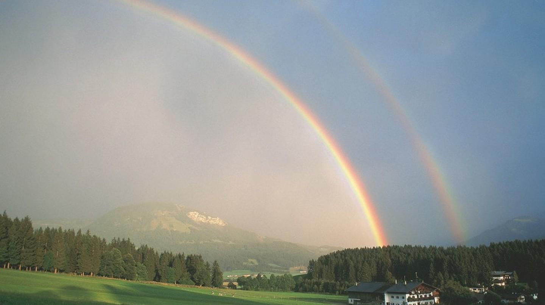 Rainbow near St. Johann in Tirol, Austria