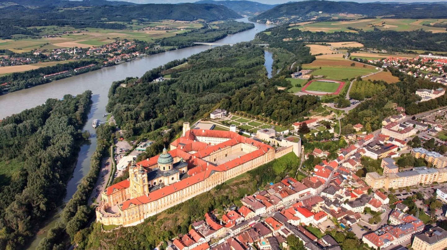 Aerial view of Melk