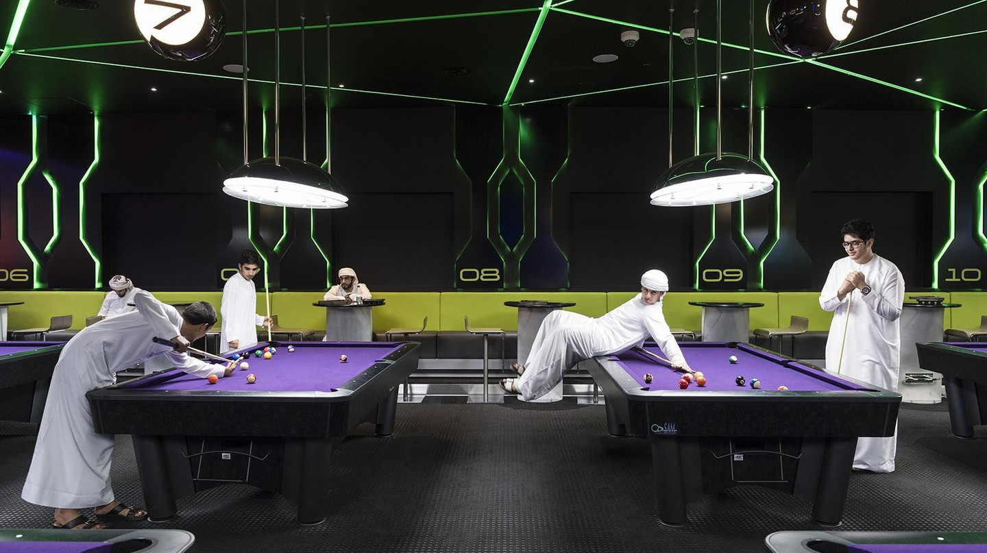 In this award-winning picture by Nick Hannes, Emirati boys are seen playing pool in Dubai