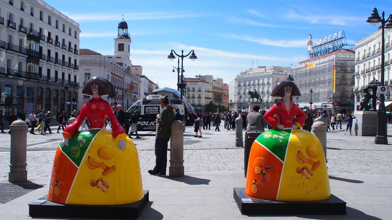 The Meninas on Madrid's Puerta del Sol