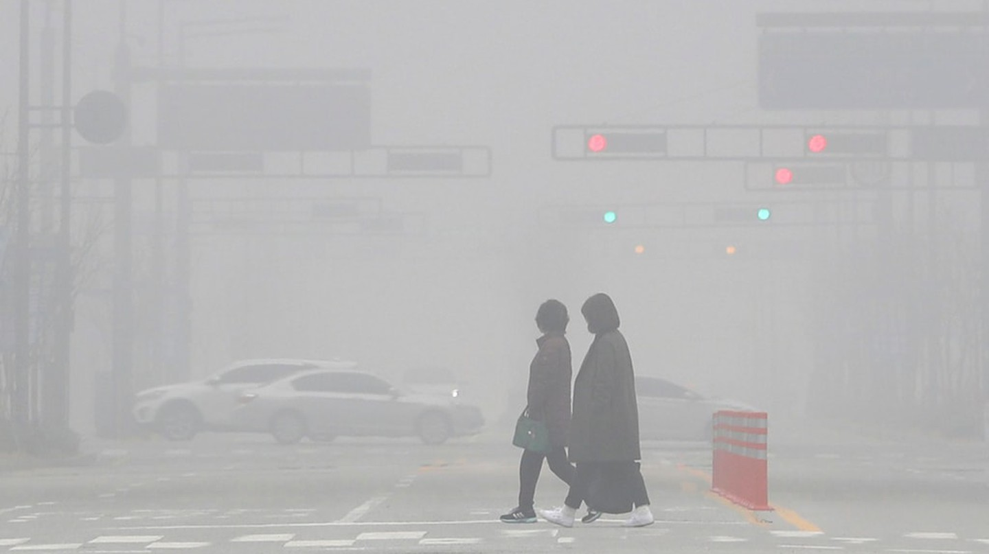 Smog on the streets of South Korea | © YONHAP/EPA-EFE/REX/Shutterstock