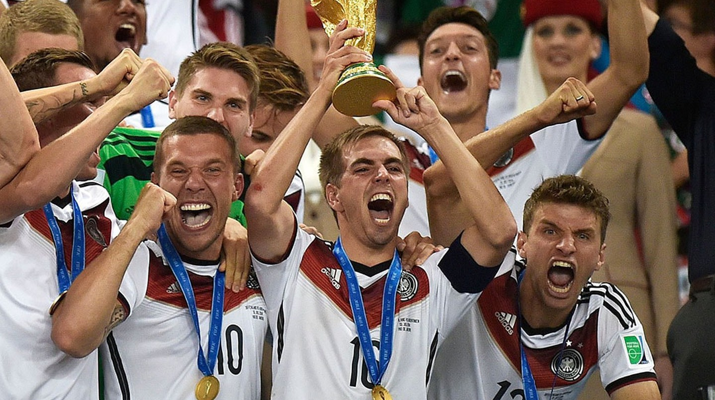 Germany celebrate winning the 2014 FIFA World Cup