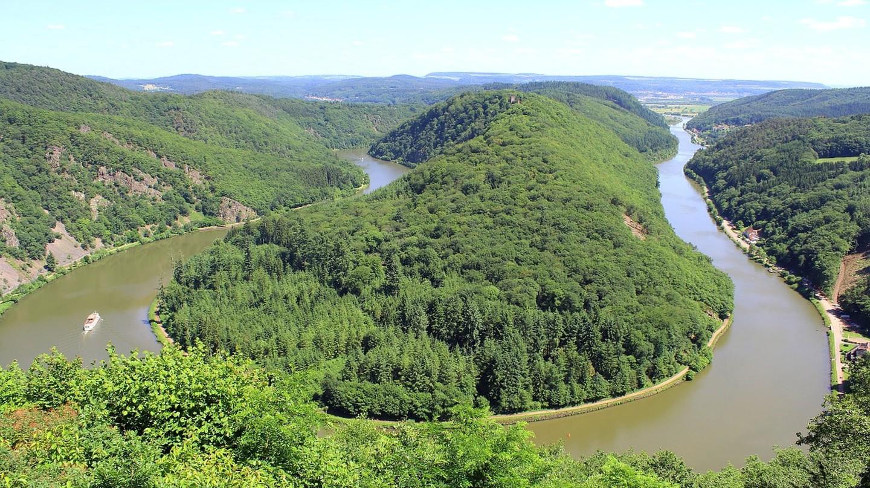 The Saar riverbend
