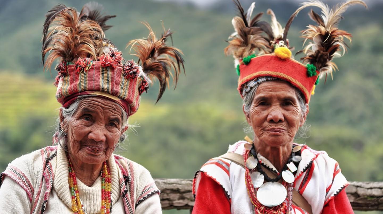Some elderly Ifugaos, Banaue, Philippines