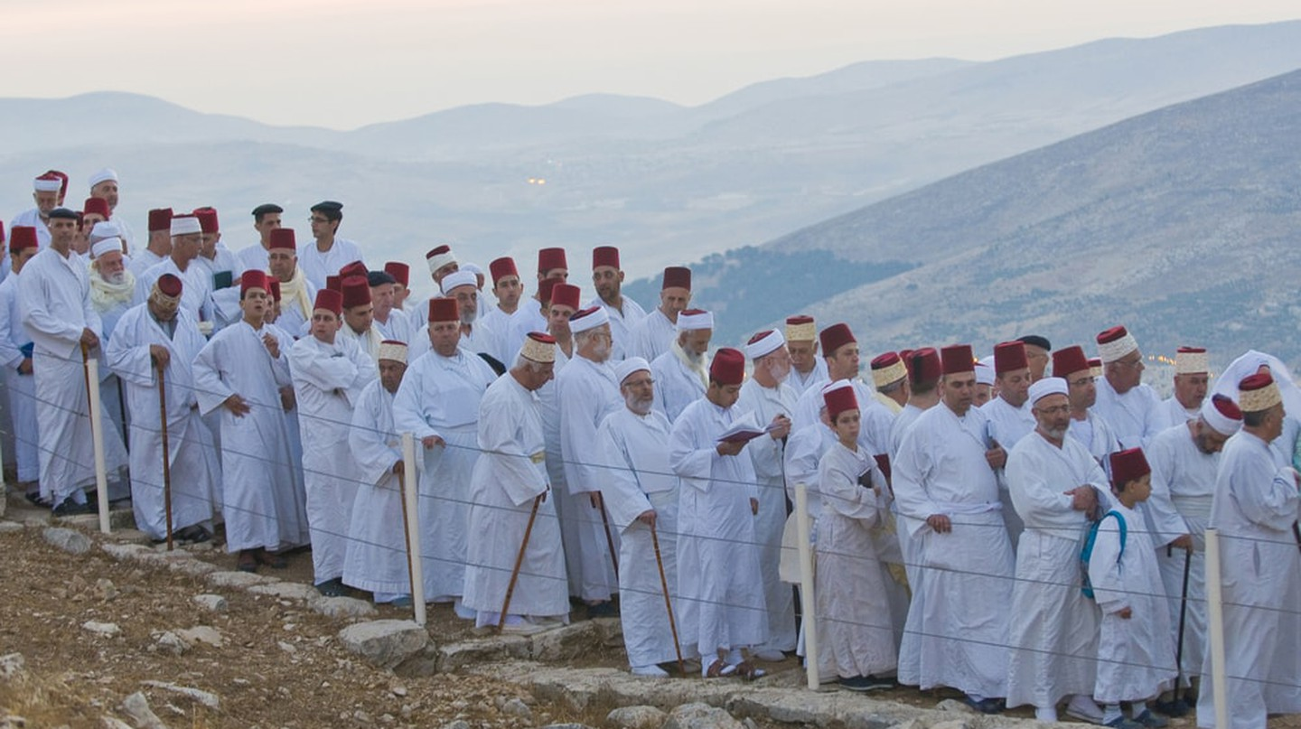 Members of the ancient Samaritan community during the holy day of Shavuot in Mount Gerizim, West Bank, 2012 | © Kobby Dagan / Shutterstock