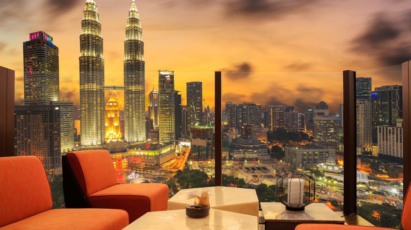 Magnificent view of KL City from one of the hotels