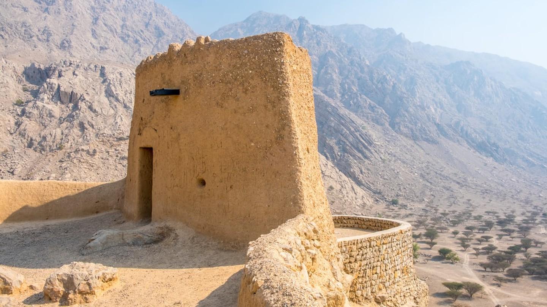 Daya or Dhayah Fort in Al Rams, Ras Al Khaimah, United Arab Emirates