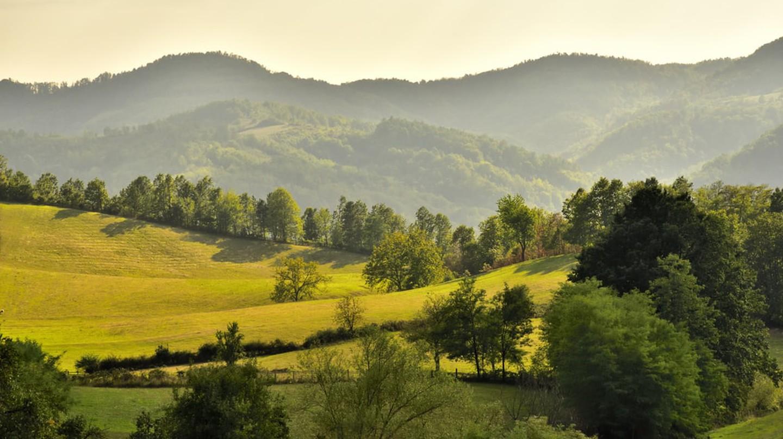 Landscape near the Rudnik Mountain in Serbia