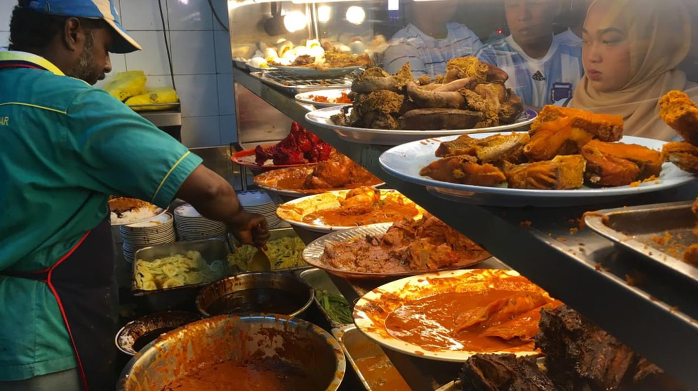 A typical Nasi Kandar restaurant in Kuala Lumpur