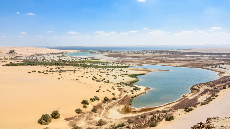 Lake Moeris in Fayoum, Egypt