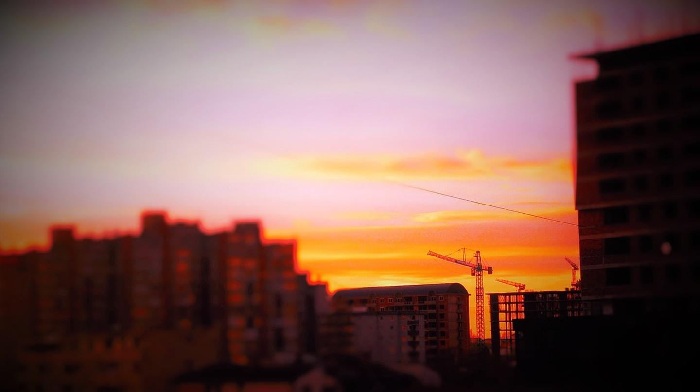 Sunset over Priština