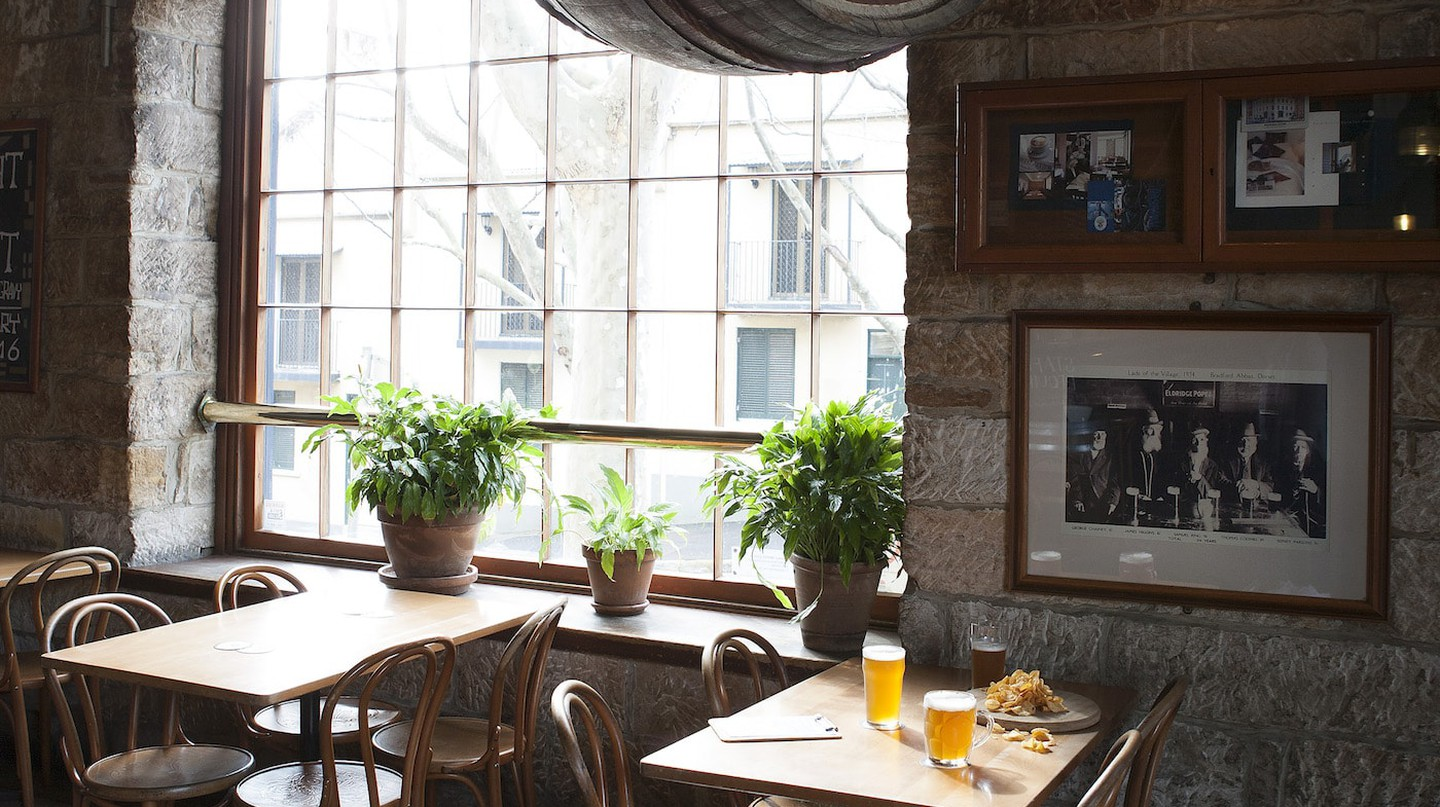 The interior of The Lord Nelson Brewery Hotel