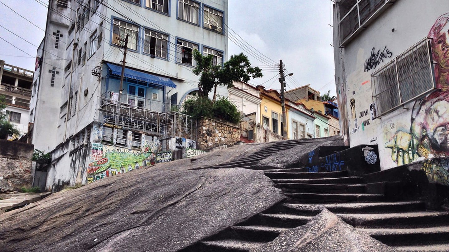Pedra do Sal, a local outdoor samba venue steeped in history