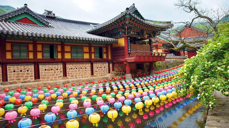Coloured lanterns at Songgwangsa temple