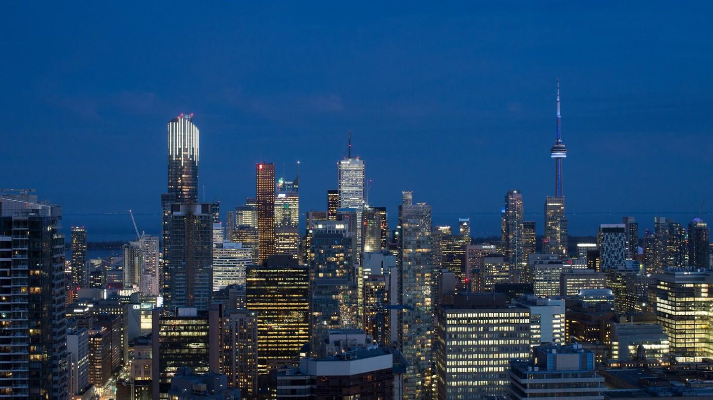 Toronto's glittering skyline