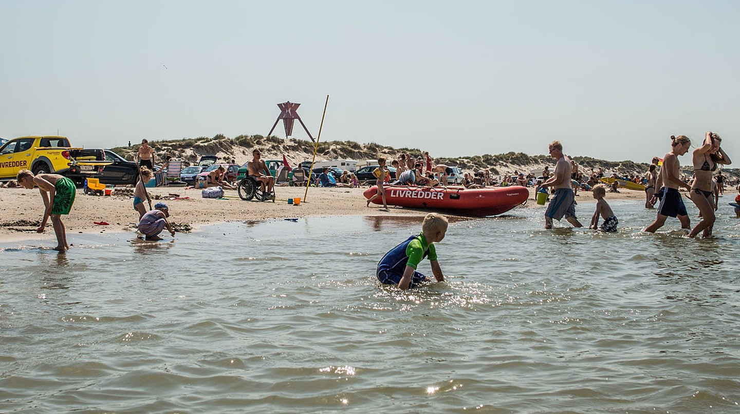 Take a dive at the North Sea at Blokhus beach
