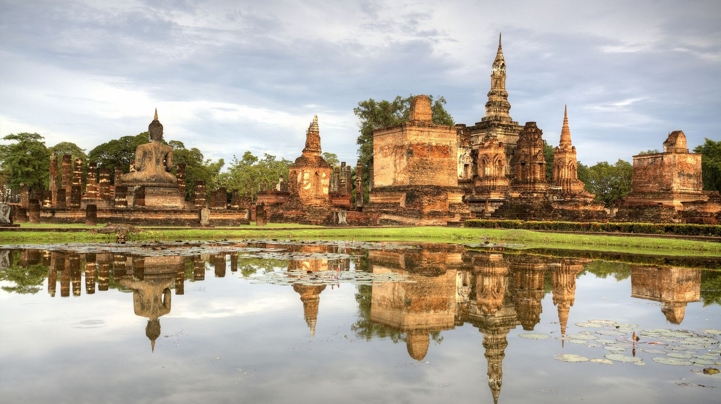 Reflections of Sukhothai, Thailand