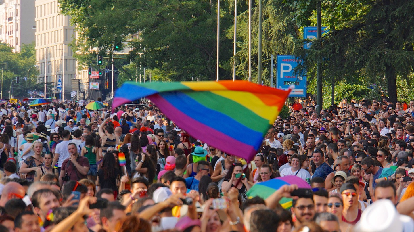 Crowds at Madrid Pride in 2015