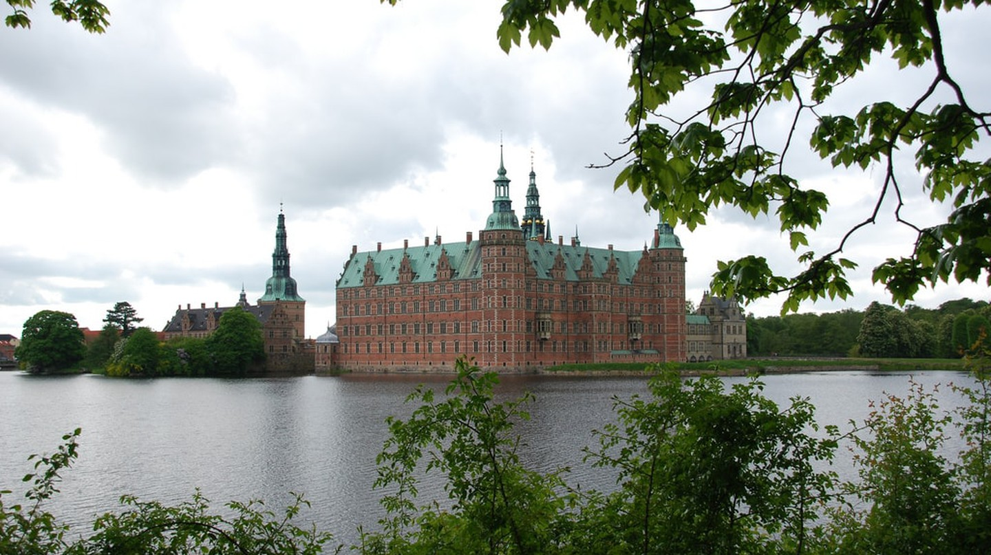 Frederiksborg Castle is located in Hillerød north of Copenhagen