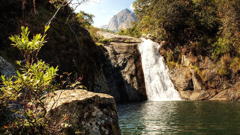 Dziwe la Nkhalamba dam on Mulanje Mountain