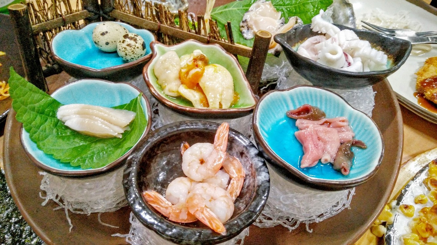 Sashimi is just one of many mouthwatering delicacies on Jeju Island, South Korea
