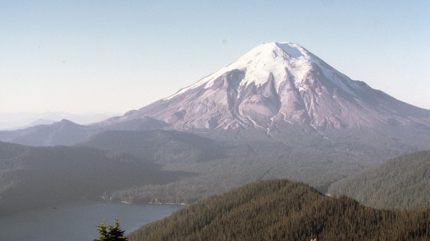 Mount St. Helens before the eruption