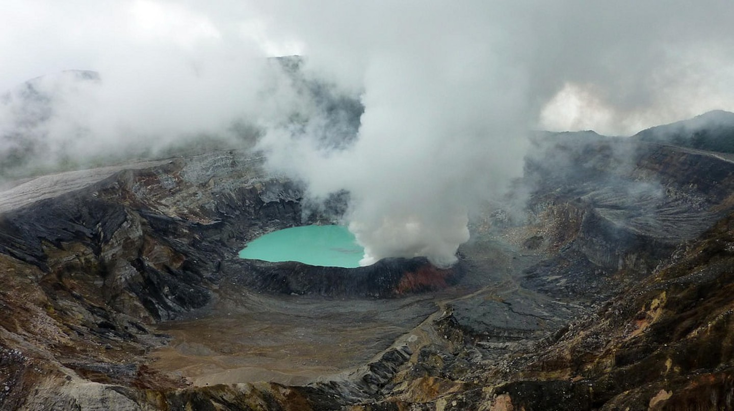 The Poás Volcano crater