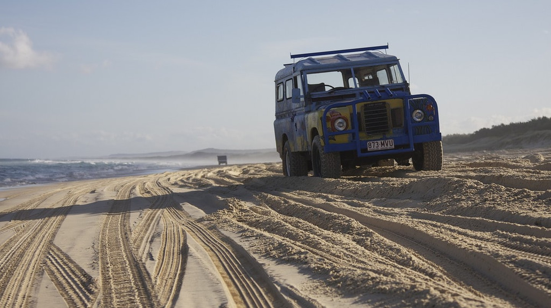 Four-wheel drive on North Stradbroke Island